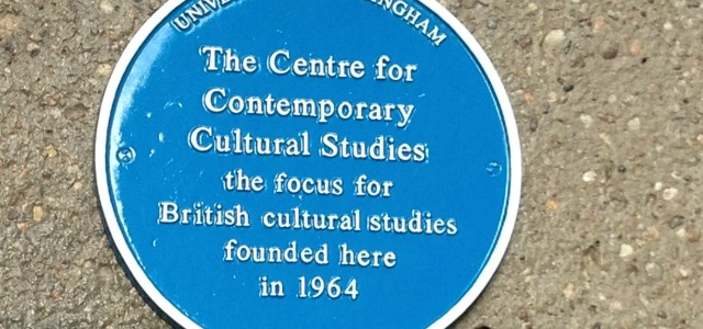 Stuart Hall and the Birmingham Centre for Contemporary Cultural Studies