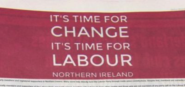 Taxation without Representation: Can Labour Remain an Honest Broker in Northern Ireland?