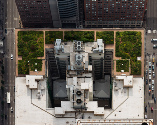 City Hall (from above, looking West), Chicago IL, June 2013